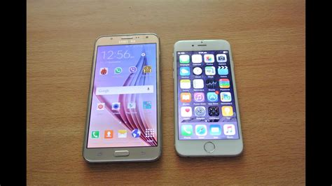 samsung galaxy j7 vs iphone 6 speed test comparison