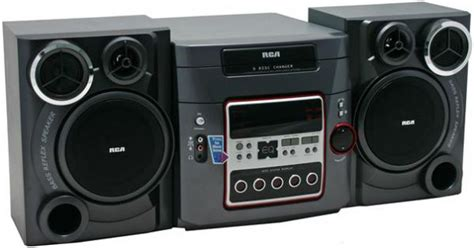 rca rs2652 book shelf stereo system 200w 5 disc am fm