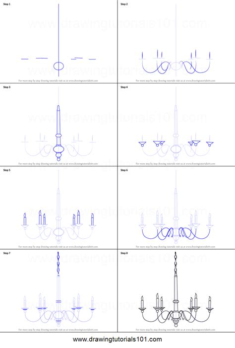 how to draw doodle how to draw a chandelier printable step by step drawing