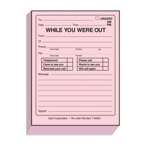 while you were out groovelily copyline telephone message pads