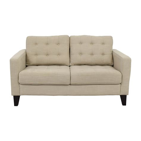 loveseat tufted 32 off pier 1 imports pier 1 imports putty tan tufted