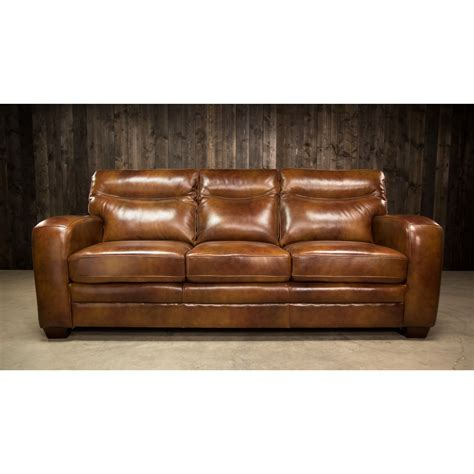low profile leather sofa elements international montebello leather sofa with low