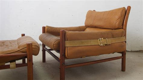 easy chair with ottoman arne norell kontiki easy chair with ottoman at 1stdibs