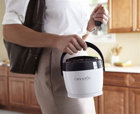 take your crockpot lunch warmer to work grayscale edition books the crock pot 174 lunch crock 174 warmer in grey lime