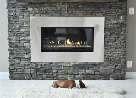 rock fireplace stacked stone