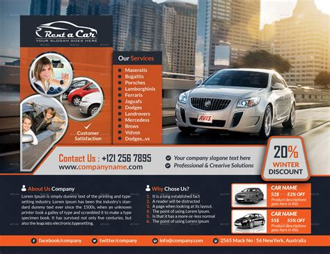 Rent A Car Flyer By Creative Touch Graphicriver Sublet Advertisement Template