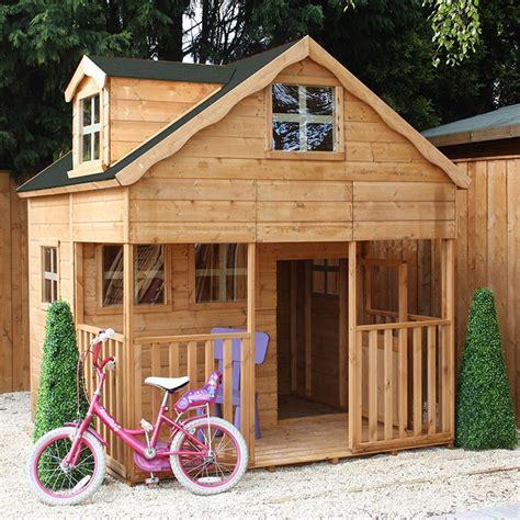 Playhouse Windows And Doors Ideas Mercia Wooden Playhouse With Dorma Window Outdoor Play C