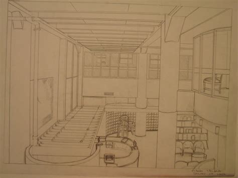 C Drawing Library by Perspective Drawing Of Library By Shadownight On Deviantart