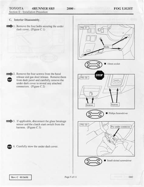 starter wiring diagram 99 toyota 4runner wiring diagram