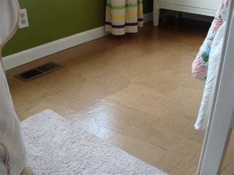 Craft Paper Floor - how to make cement floors more appealing diy projects