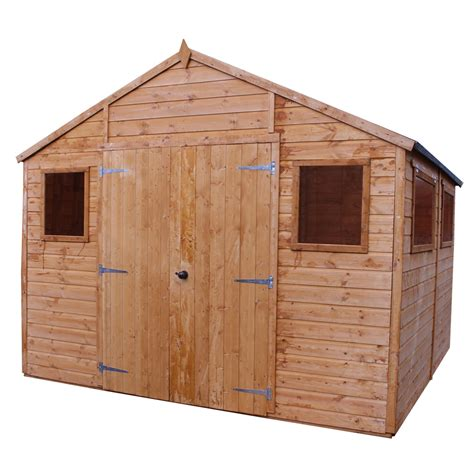 installed 10 x 10 deluxe tongue and groove workshop with