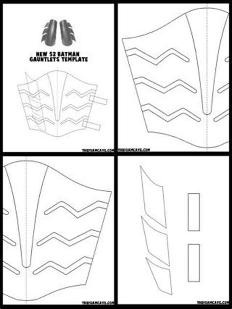 template for new 52 batman gauntlets template and batman