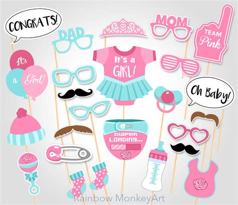 free printables for baby shower photo booth baby shower photo booth props printable photo booth props