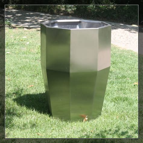 Buy Planter Box by Fo 9047 Stainless Steel Planter Pots Garden Decoration