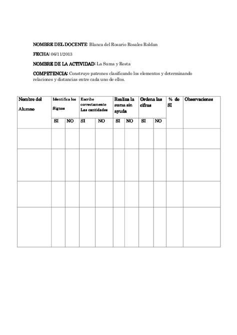 planeacion de segundo grado primaria lista de cotejo lista de cotejo de primero ysegundi primaria
