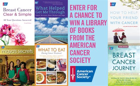 a cancer books enter to win a collection of books from the american