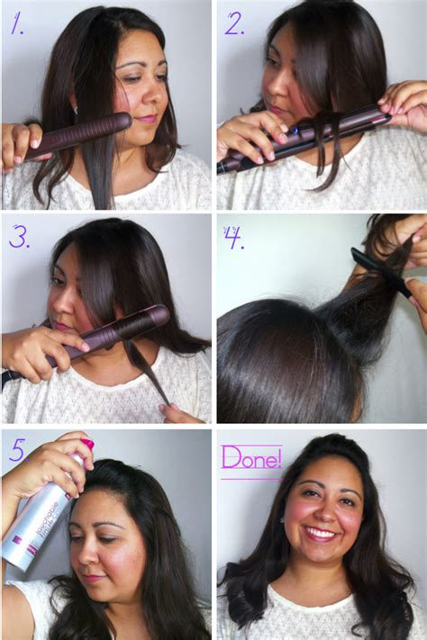 how to make flicks with a hair straightener how to curl hair with straightener short hairstyle 2013