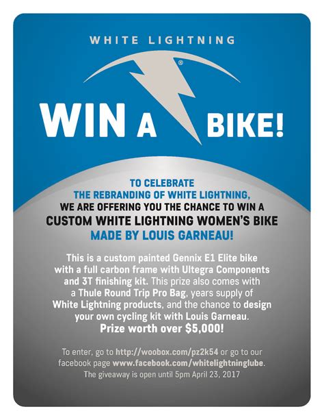 Cycling Giveaway - white lightning white lightning bike giveaway