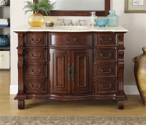 50 inch sink vanity 50 inch bathroom vanity single sink brown base