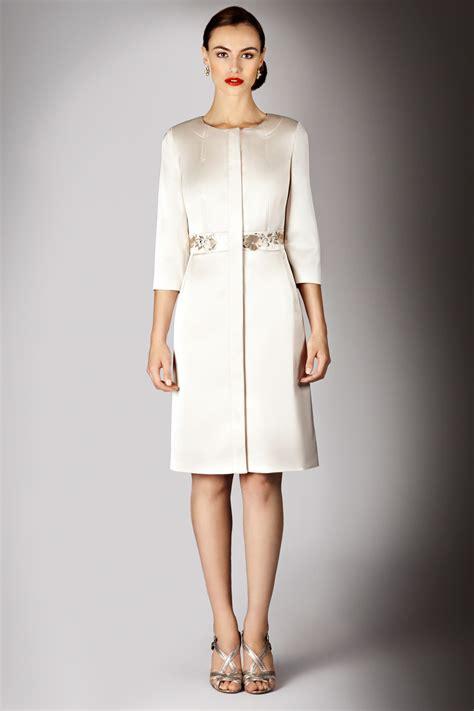 6561 Dress Jaket Coat lyst coast hermosa satin coat in metallic
