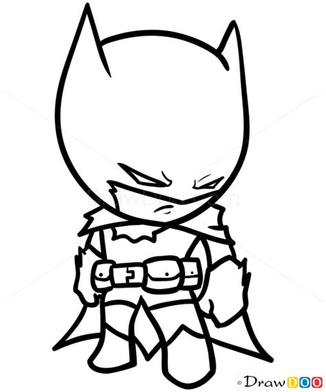 cute superhero coloring pages how to draw batman chibi