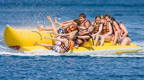 banana boat ride at baga beach best water sports in goa luxuryrental