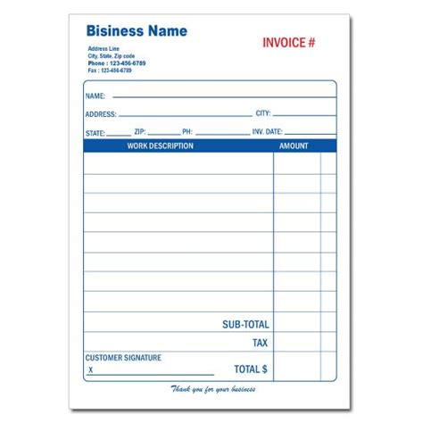Arco 60 00 Receipt Template by General Invoice Forms Receipts Carbonless Printing