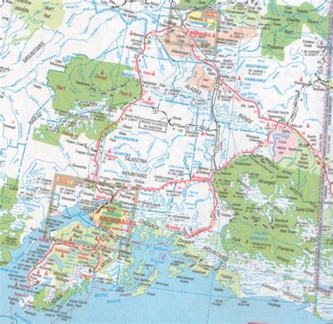 road map of south central usa south central alaska