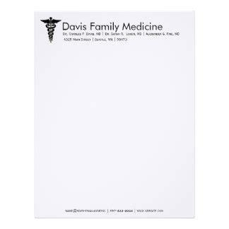 doctor letterhead template letterhead zazzle