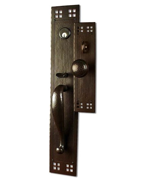 Craftsman Door Hardware arts and crafts style crafted copper large entry sets