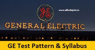Mba At General Electric by General Electric Test Pattern And Syllabus