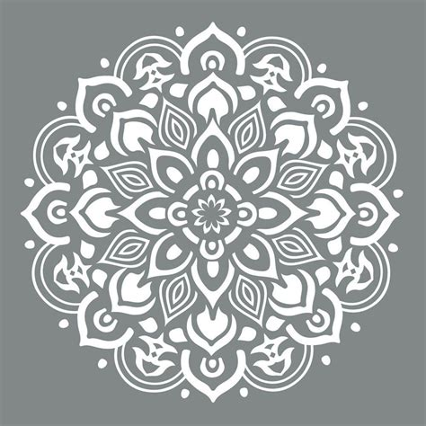 printable paper edge designs decoart americana decor 10 in x 10 in mandala stencil