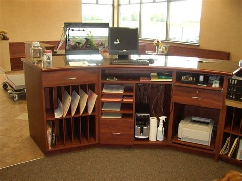 front desk organization ideas reception desk more ideas for storage clinic remodel