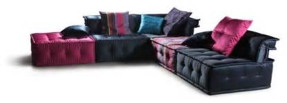 multi colored micorfiber fabric sectional sofa