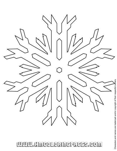 snowflake pattern to color free coloring pages of simple snowflake