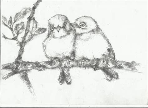 Bird On Branch Drawing leaves nightwithdeer