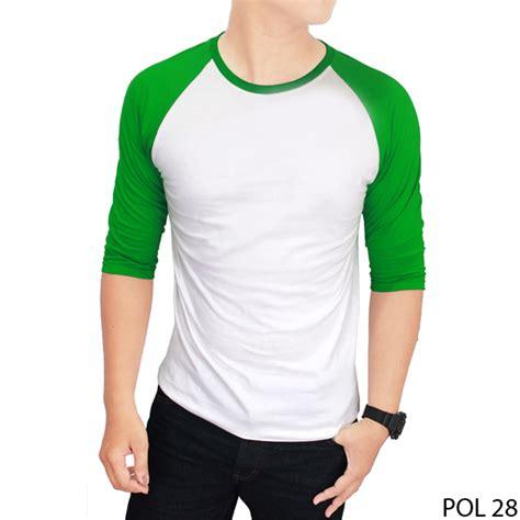 T Shirt Polos Depan Belakang Pol 17 basic raglan tshirt unisex kaos polos warna kombinasi