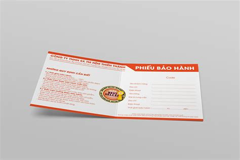 warranty card template graphics designer warranty card thien thanh mattress on pantone canvas gallery
