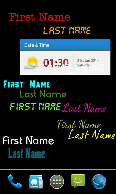 android themes names my name live wallpaper hd galleryimage co