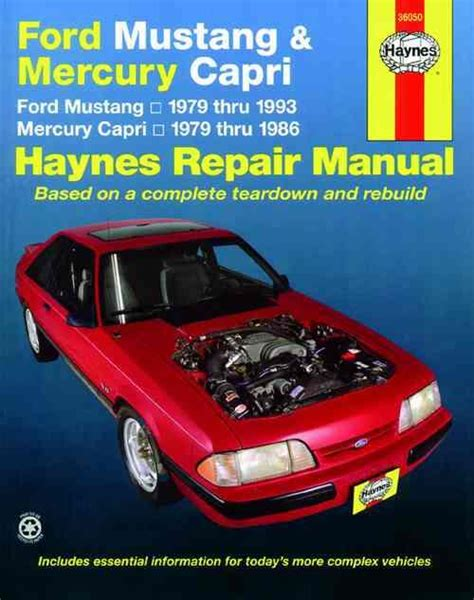 free service manuals online 1991 mercury capri electronic toll collection ford mustang mercury capri 1979 1993 haynes owners service repair manual 1563921308