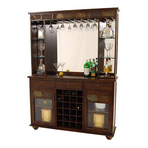 Living Room Bar Sets Santa Fe Bar W Hutch El Dorado Furniture