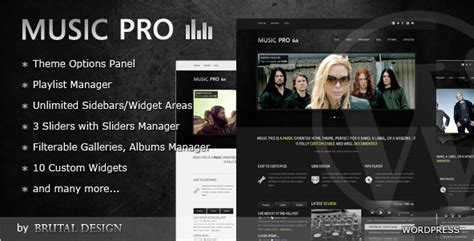 best wordpress music themes joomla drupal and html
