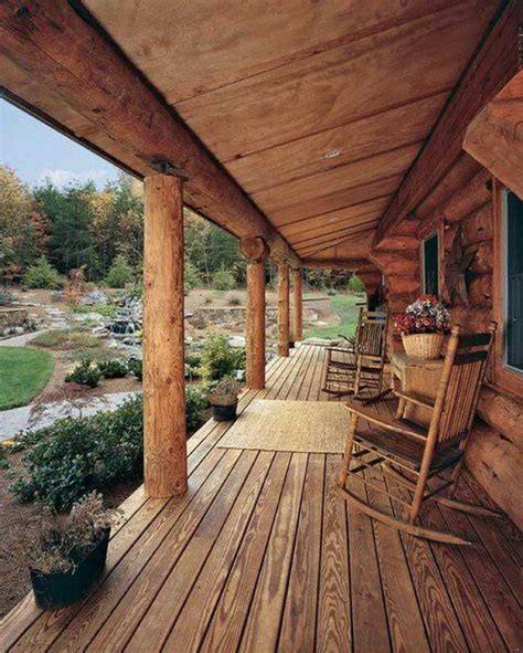 cabin porch rustic log cabin porch pleasure in porches pinterest