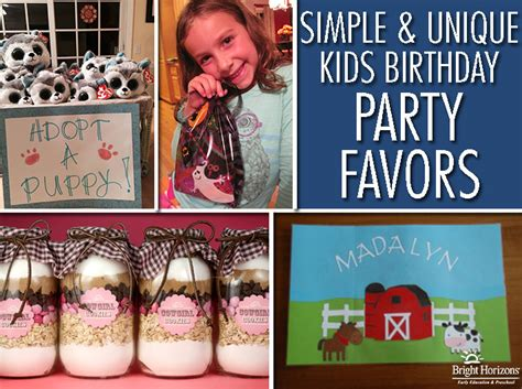 Kids Birthday Giveaways - simple and unique ideas for kids birthday favors