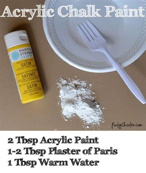 diy chalk paint plaster of recipe acrylic chalk paint recipe cool diy ideas