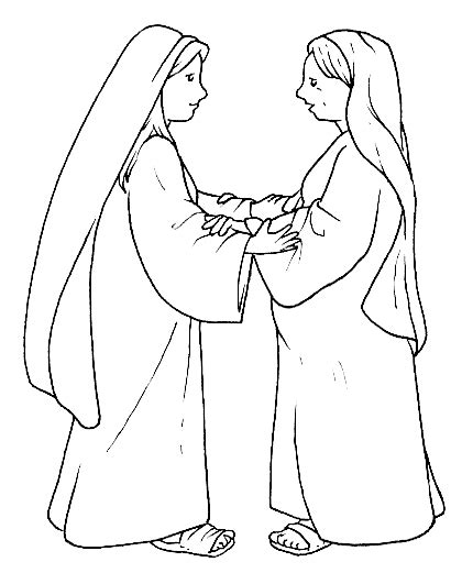 mary and elizabeth coloring page coloring page zechariah