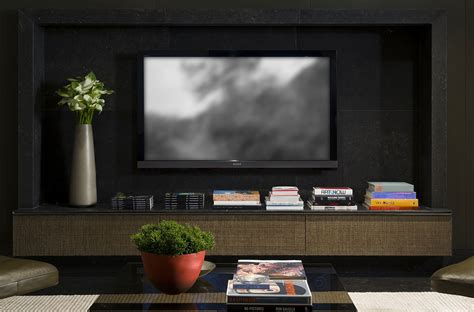 tv wall decoration for living room contemporary interior project 910 by kiko salom 195 163 o arquitetura keribrownhomes