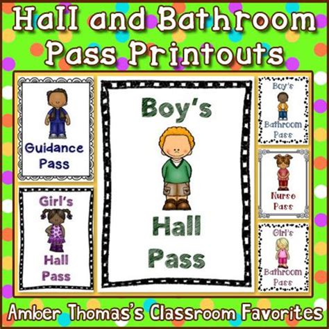 student bathroom passes hall and bathroom pass printouts a well wells and boys