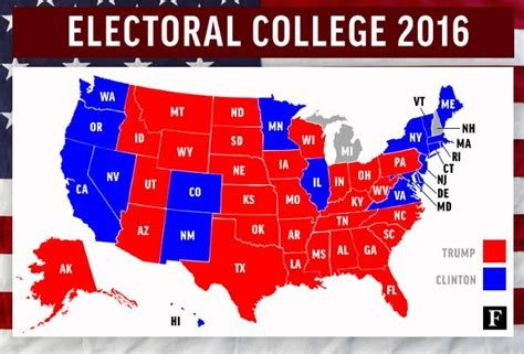 us map by electoral vote electoral college 2016 results