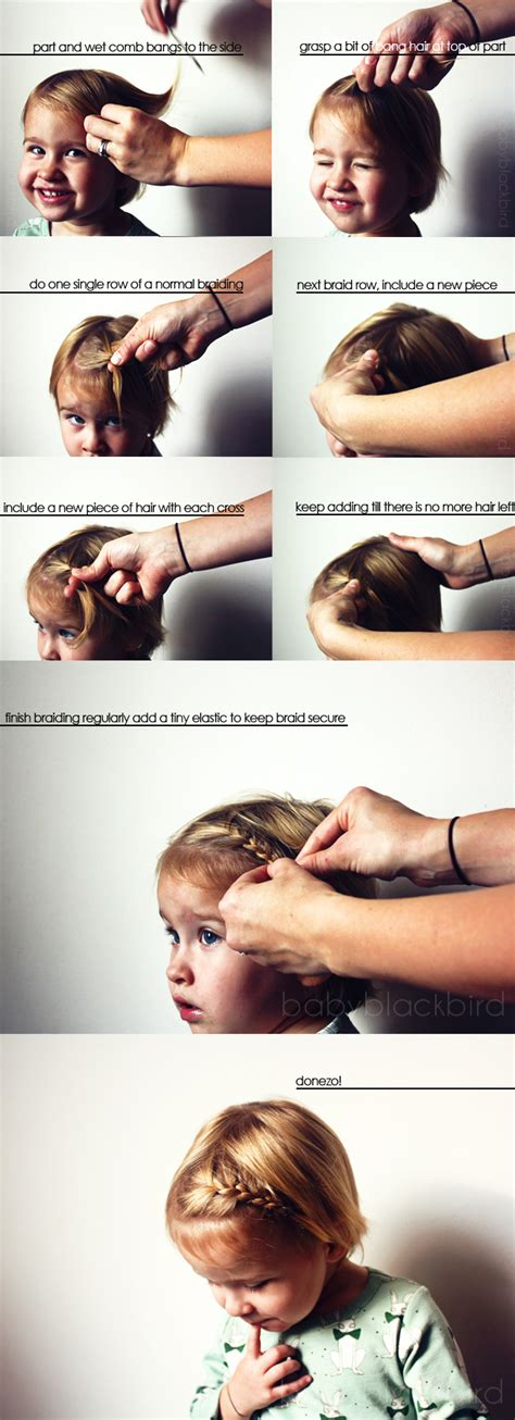 how to braid bangs steps how to little girl bang braid heart and habit